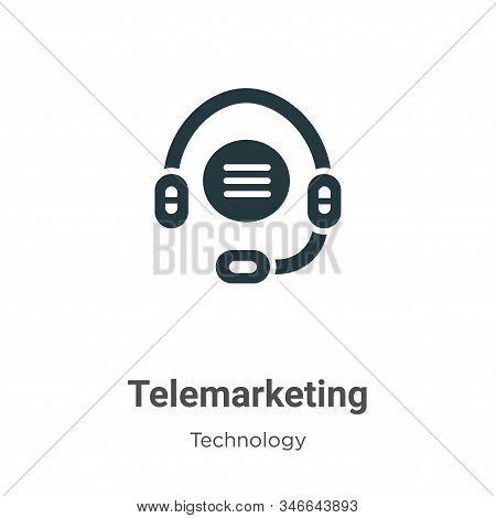 Telemarketing icon isolated on white background from technology collection. Telemarketing icon trend