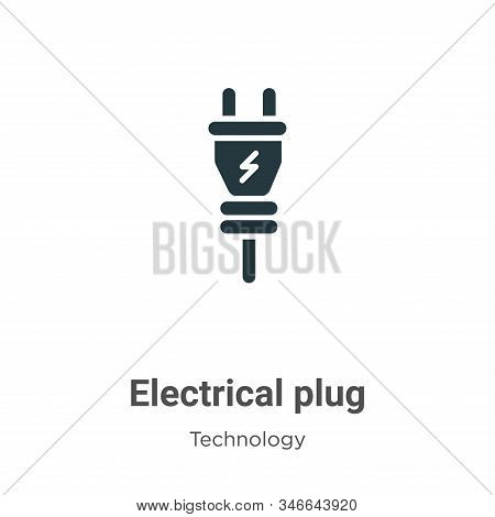 Electrical plug icon isolated on white background from technology collection. Electrical plug icon t