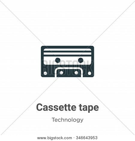 Cassette tape icon isolated on white background from technology collection. Cassette tape icon trend