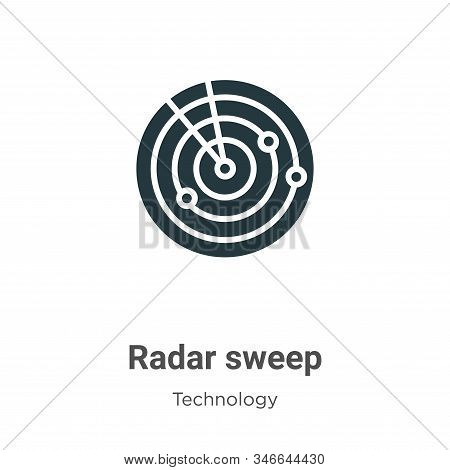 Radar sweep icon isolated on white background from technology collection. Radar sweep icon trendy an