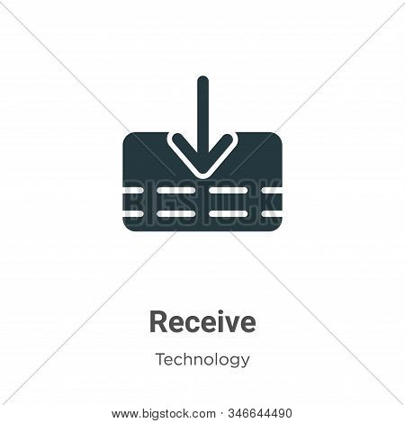 Receive icon isolated on white background from technology collection. Receive icon trendy and modern