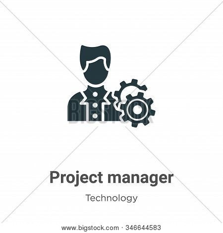 Project Manager Glyph Icon Vector On White Background. Flat Vector Project Manager Icon Symbol Sign