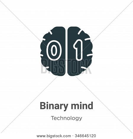 Binary mind icon isolated on white background from technology collection. Binary mind icon trendy an