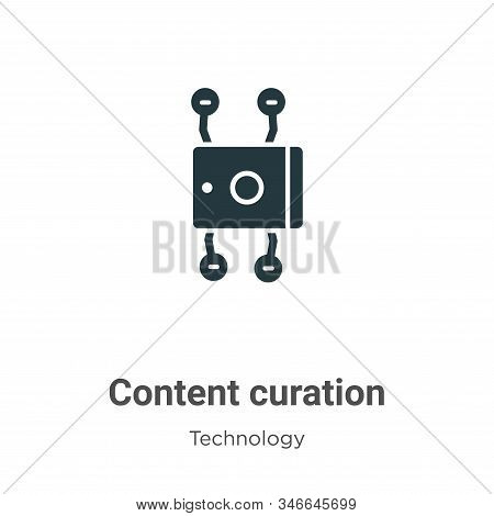 Content curation icon isolated on white background from technology collection. Content curation icon