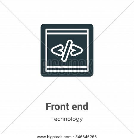 Front End Glyph Icon Vector On White Background. Flat Vector Front End Icon Symbol Sign From Modern
