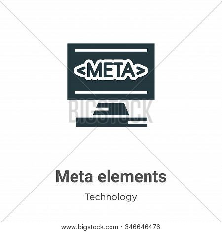 Meta elements icon isolated on white background from technology collection. Meta elements icon trend