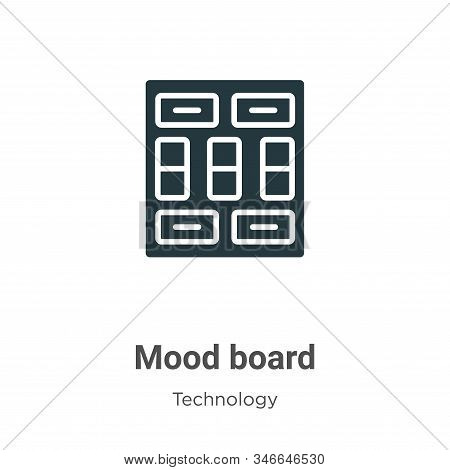 Mood board icon isolated on white background from technology collection. Mood board icon trendy and