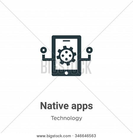 Native apps icon isolated on white background from technology collection. Native apps icon trendy an