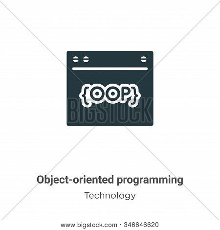 Object-oriented Programming Glyph Icon Vector On White Background. Flat Vector Object-oriented Progr