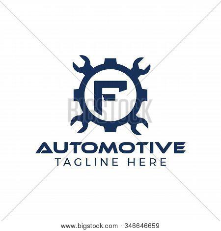 Automotive Letter F Logo Design Vector Template. Motor Business Alphabet Design F Vector Illustratio