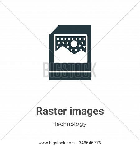 Raster Images Glyph Icon Vector On White Background. Flat Vector Raster Images Icon Symbol Sign From