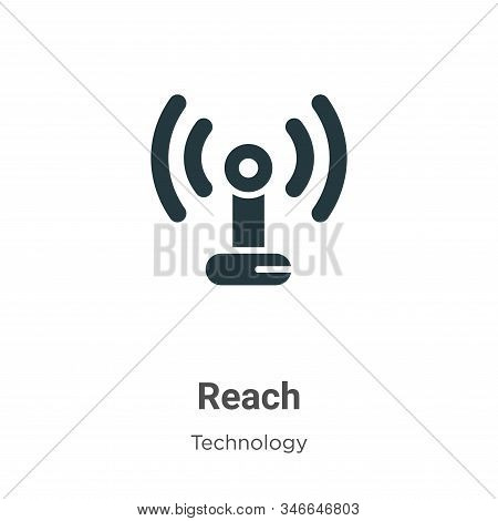 Reach icon isolated on white background from technology collection. Reach icon trendy and modern Rea