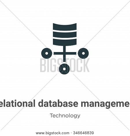 Relational database management system icon isolated on white background from technology collection.
