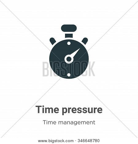 Time pressure icon isolated on white background from time management collection. Time pressure icon