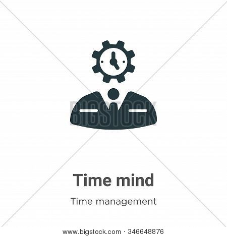 Time mind icon isolated on white background from time management collection. Time mind icon trendy a
