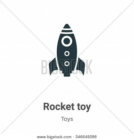 Rocket toy icon isolated on white background from toys collection. Rocket toy icon trendy and modern
