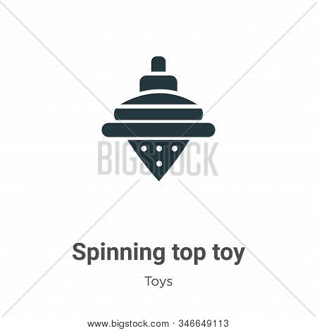Spinning top toy icon isolated on white background from toys collection. Spinning top toy icon trend