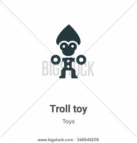 Troll toy icon isolated on white background from toys collection. Troll toy icon trendy and modern T