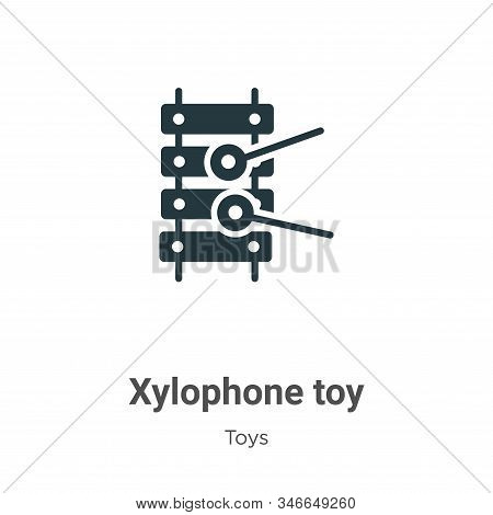 Xylophone toy icon isolated on white background from toys collection. Xylophone toy icon trendy and