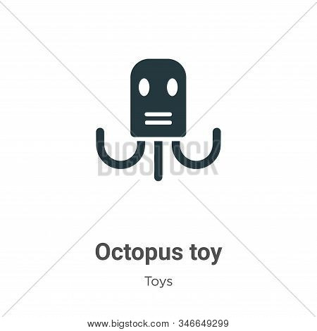 Octopus toy icon isolated on white background from toys collection. Octopus toy icon trendy and mode