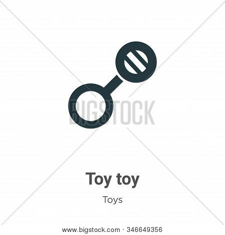 Toy toy icon isolated on white background from toys collection. Toy toy icon trendy and modern Toy t