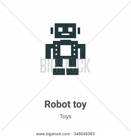 Robot toy icon isolated on white background from toys collection. Robot toy icon trendy and modern R