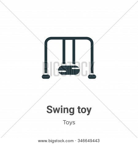 Swing toy icon isolated on white background from toys collection. Swing toy icon trendy and modern S