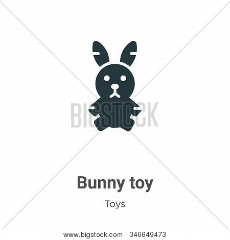 Bunny toy icon isolated on white background from toys collection. Bunny toy icon trendy and modern B