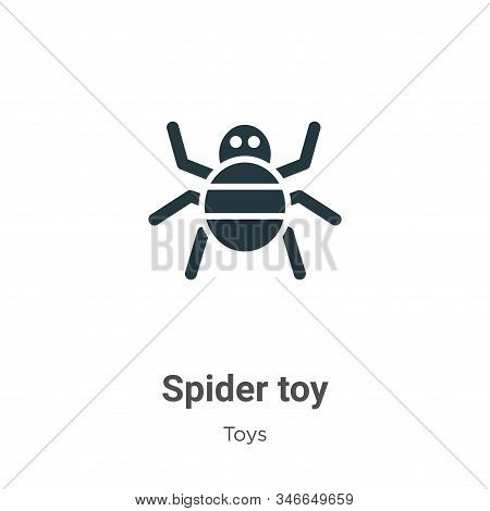 Spider toy icon isolated on white background from toys collection. Spider toy icon trendy and modern