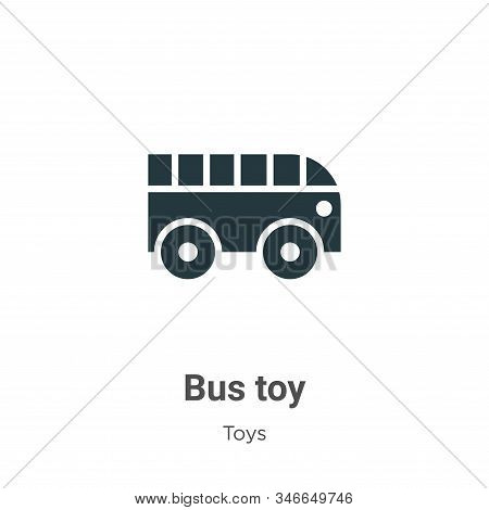 Bus toy icon isolated on white background from toys collection. Bus toy icon trendy and modern Bus t