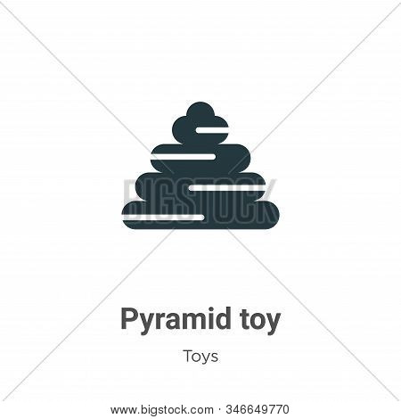 Pyramid toy icon isolated on white background from toys collection. Pyramid toy icon trendy and mode