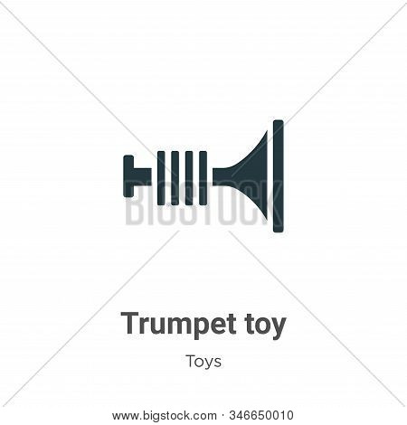Trumpet toy icon isolated on white background from toys collection. Trumpet toy icon trendy and mode