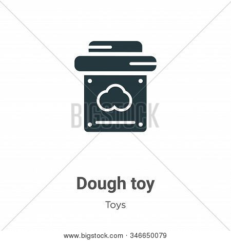 Dough Toy Glyph Icon Vector On White Background. Flat Vector Dough Toy Icon Symbol Sign From Modern