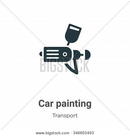 Car painting icon isolated on white background from transport collection. Car painting icon trendy a