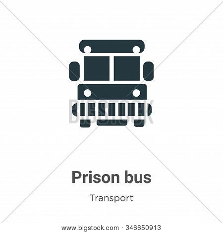 Prison bus icon isolated on white background from transport collection. Prison bus icon trendy and m