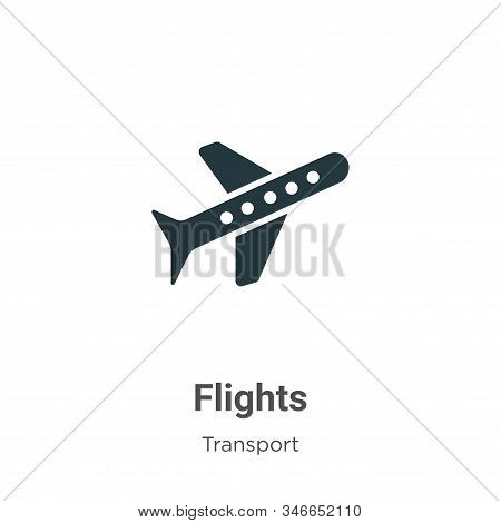 Flights icon isolated on white background from transport collection. Flights icon trendy and modern