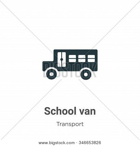 School van icon isolated on white background from transport collection. School van icon trendy and m