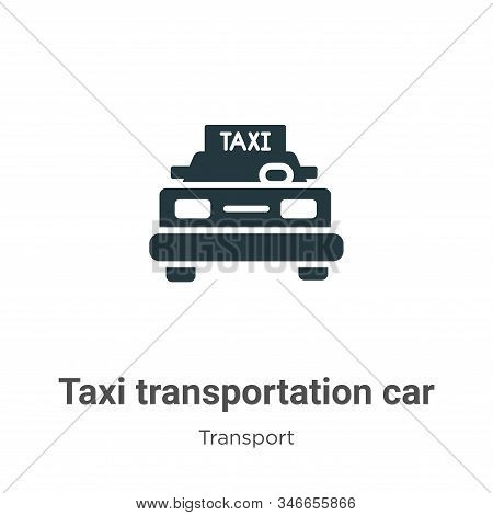 Taxi transportation car from frontal view icon isolated on white background from transport collectio