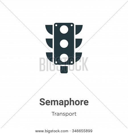 Semaphore icon isolated on white background from transport collection. Semaphore icon trendy and mod