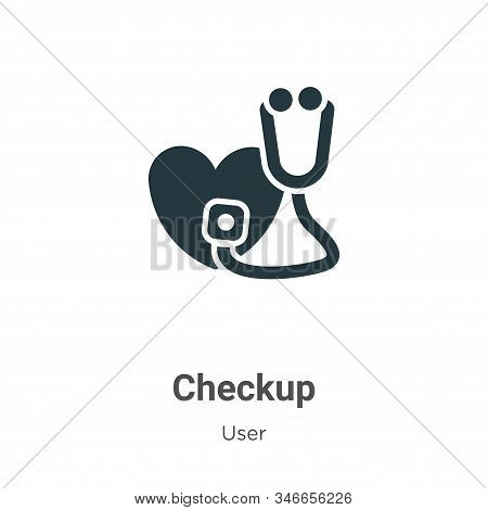 Checkup Glyph Icon Vector On White Background. Flat Vector Checkup Icon Symbol Sign From Modern User