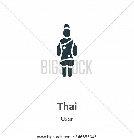 Thai icon isolated on white background from user collection. Thai icon trendy and modern Thai symbol