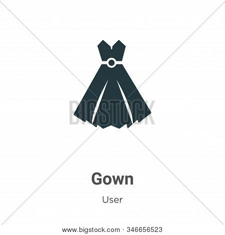 Gown icon isolated on white background from user collection. Gown icon trendy and modern Gown symbol