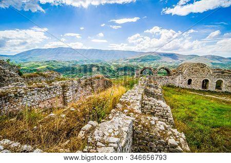 Kalaja E Beratit - Citadel Of Berat And Castle Quarter, Is A Fortress Overlooking The Town Of Berat,
