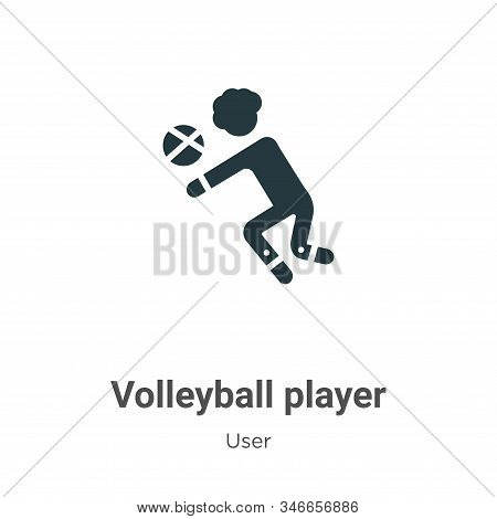 Volleyball player icon isolated on white background from user collection. Volleyball player icon tre