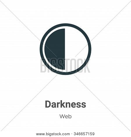 Darkness icon isolated on white background from web collection. Darkness icon trendy and modern Dark