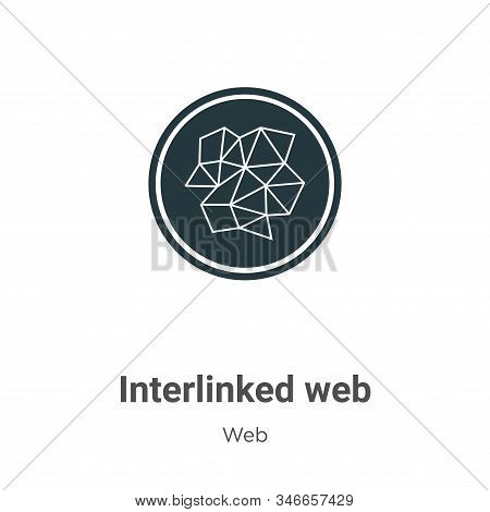 Interlinked web icon isolated on white background from web collection. Interlinked web icon trendy a