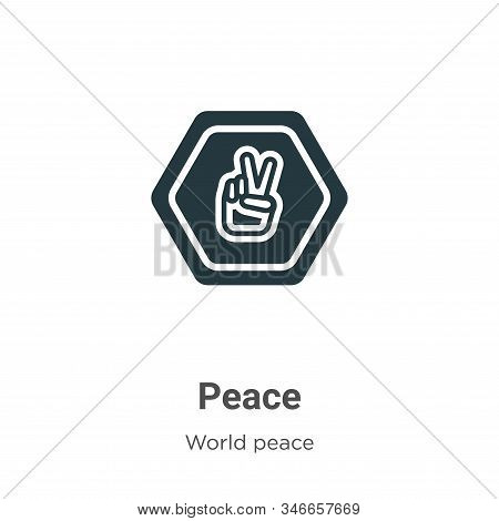 Peace icon isolated on white background from world peace collection. Peace icon trendy and modern Pe