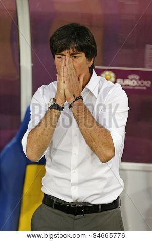 Germany National Team Head Coach Joachim Low Looks On During Uefa Euro 2012 Game Against Denmark