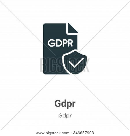 Gdpr Glyph Icon Vector On White Background. Flat Vector Gdpr Icon Symbol Sign From Modern Gdpr Colle