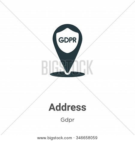 Address icon isolated on white background from gdpr collection. Address icon trendy and modern Addre